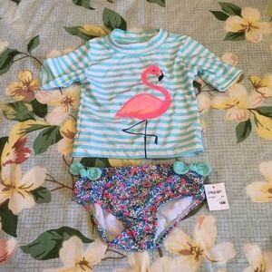 Carter's Rashguard Swim Shirt and Bikini Bottom